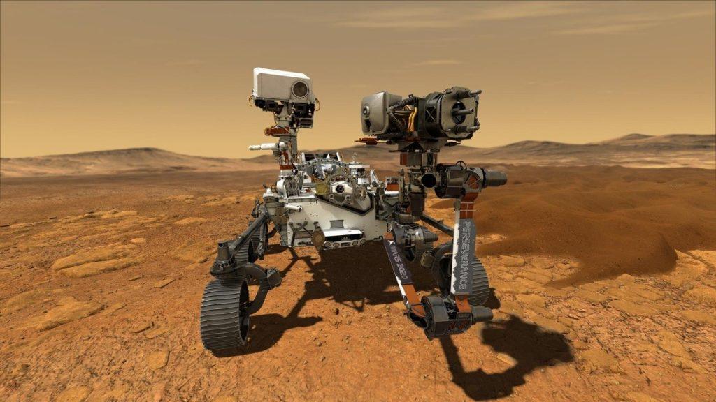 A nave espacial Perseverance. Rover Perseverance. Missão Marte 2020