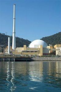 Angra II , usina nuclear no Rio de Janeiro, Brasil