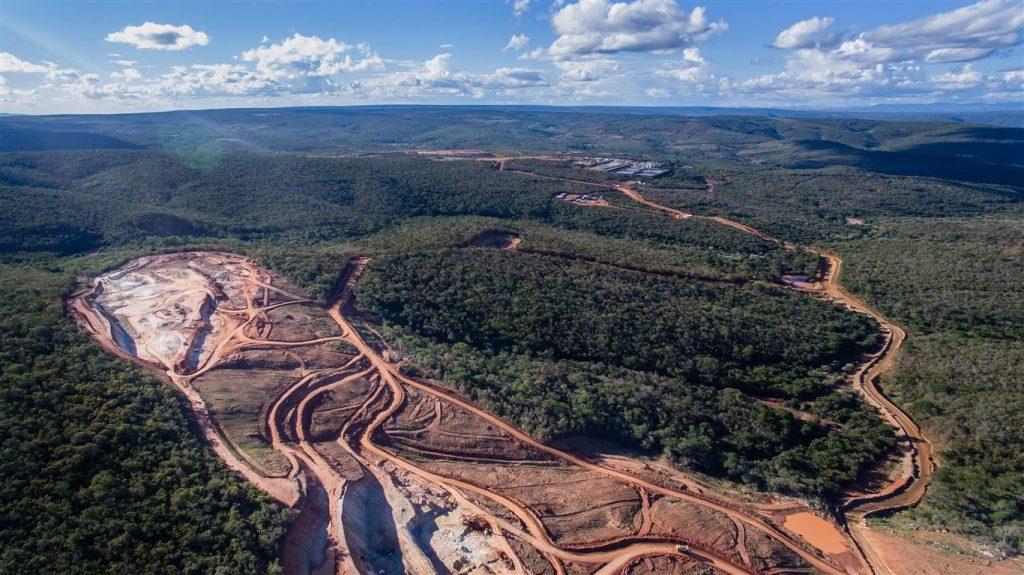 Mina do Engenho, produção de urânio. Localizada em Caetité, Bahia.