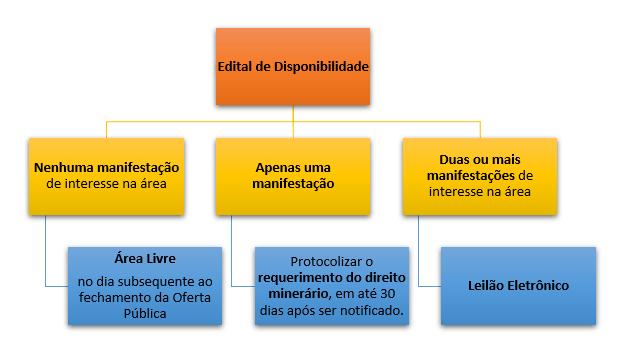 Procedimento de disponibilidade de áreas. Oferta publica e Leilões de disponibilidade
