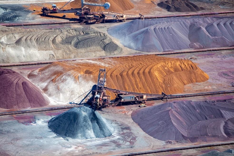 Mina de minério de ferro.