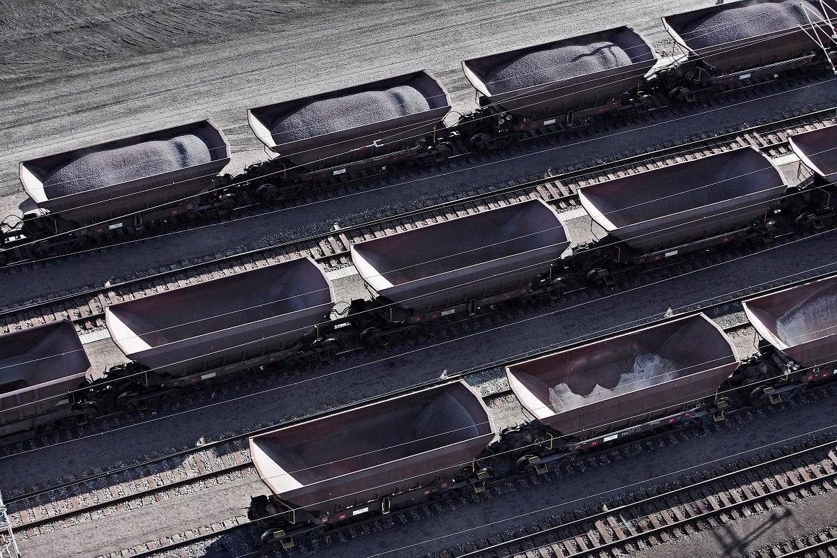 Transporte do minério por ferrovias, Kiruna, KLAB.