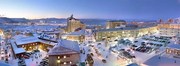Cidade de Kiruna, na Suécia.